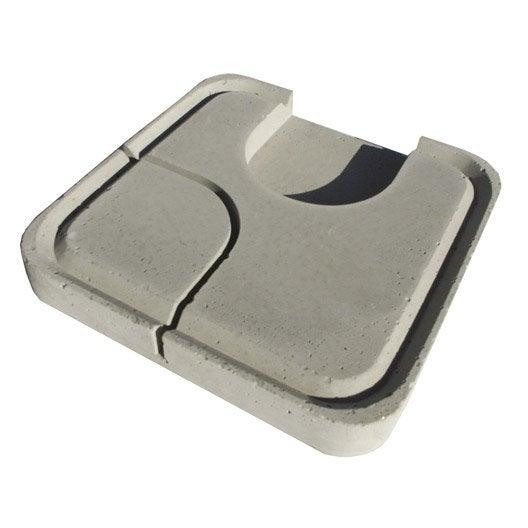 couvercle béton gris lib, l.30 x l.30 x ep.25 cm | leroy merlin