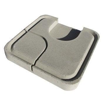 Couvercle béton gris LIB, L.40 x l.40 x Ep.33 cm