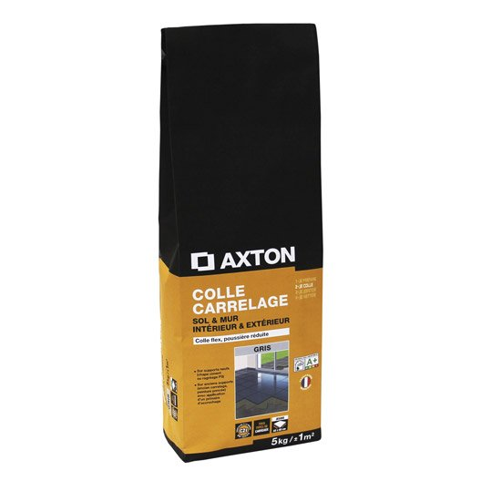 Mortier colle flexible pour carrelage mur et sol 5 kg for Colle carrelage flexible