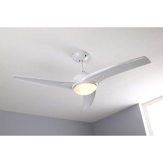 ventilateur de plafond tokyo inspire blanc 2x42 watts leroy merlin. Black Bedroom Furniture Sets. Home Design Ideas