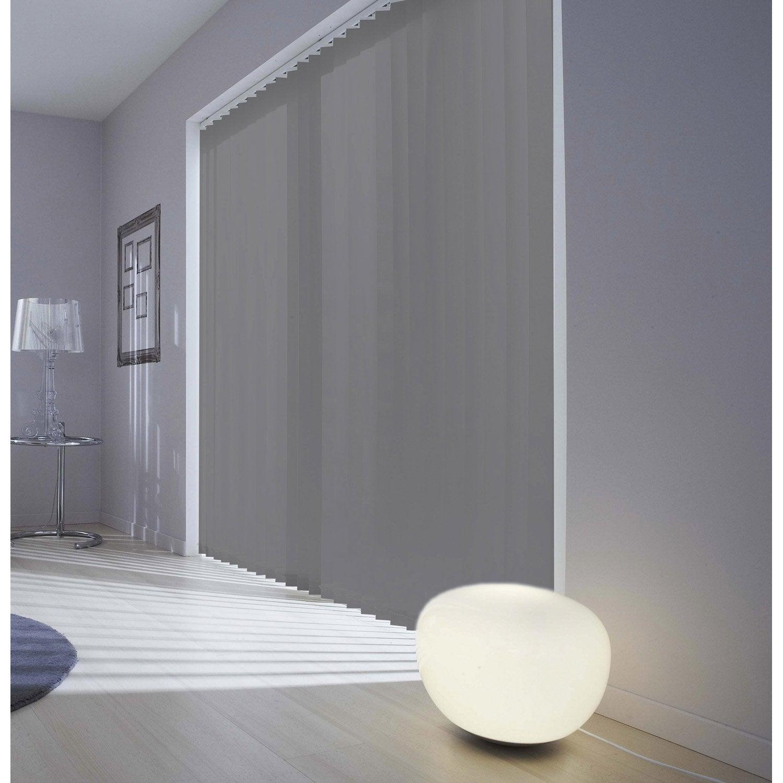 Comment Habiller Un Velux Avec Des Rideaux kit rail + lamelles verticales orientables gris-gris n°3 inspire, 150 x 260  cm