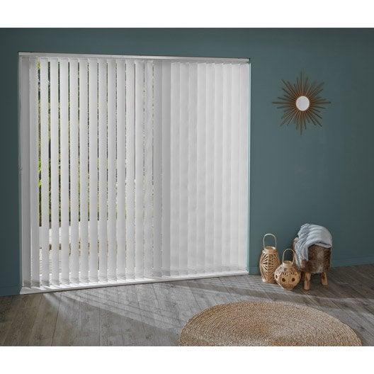 5 lamelles pour store californien panama blanc cm leroy merlin. Black Bedroom Furniture Sets. Home Design Ideas