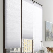 Store plissé polyester, blanc, l.45 x H.180 cm