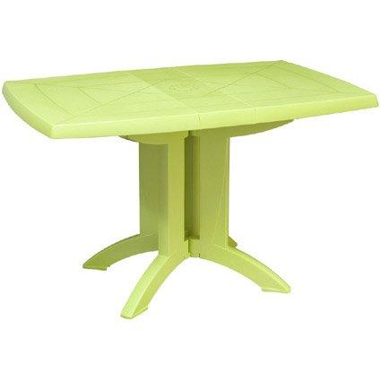 Table de jardin GROSFILLEX Véga rectangulaire vert anis 4 personnes ...