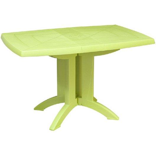 Table de jardin grosfillex v ga rectangulaire vert anis 4 for Table jardin 4 personnes