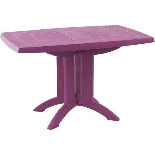 table de jardin grosfillex v ga rectangulaire fuschia 4 personnes leroy merlin. Black Bedroom Furniture Sets. Home Design Ideas