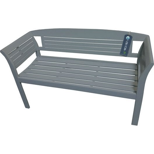 banc 2 places de jardin en bois new york gris leroy merlin. Black Bedroom Furniture Sets. Home Design Ideas