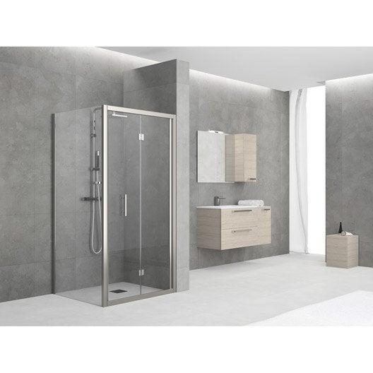 Porte de douche pliante sensea elyt verre de s curit for Porte douche pliante
