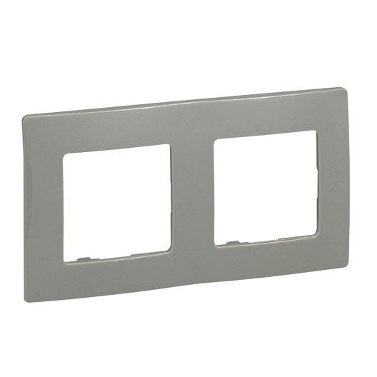 plaque double nilo legrand galet leroy merlin. Black Bedroom Furniture Sets. Home Design Ideas