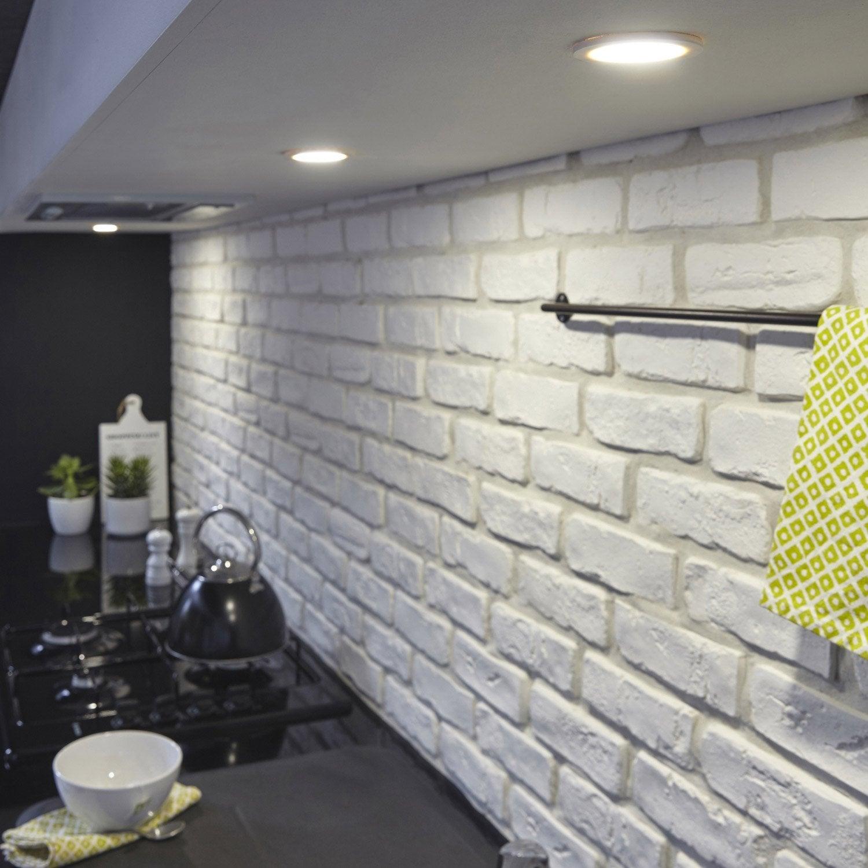 Kit 3 spots led intégrée Rio INSPIRE 3 x 2 W blanc, lumière blanche
