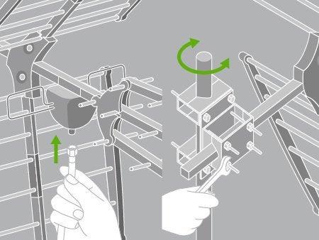 comment installer une antenne tv terrestre ext rieure leroy merlin. Black Bedroom Furniture Sets. Home Design Ideas
