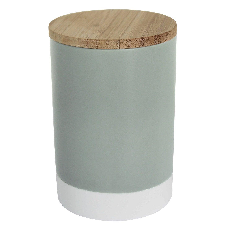 Boîte céramique blanc gris