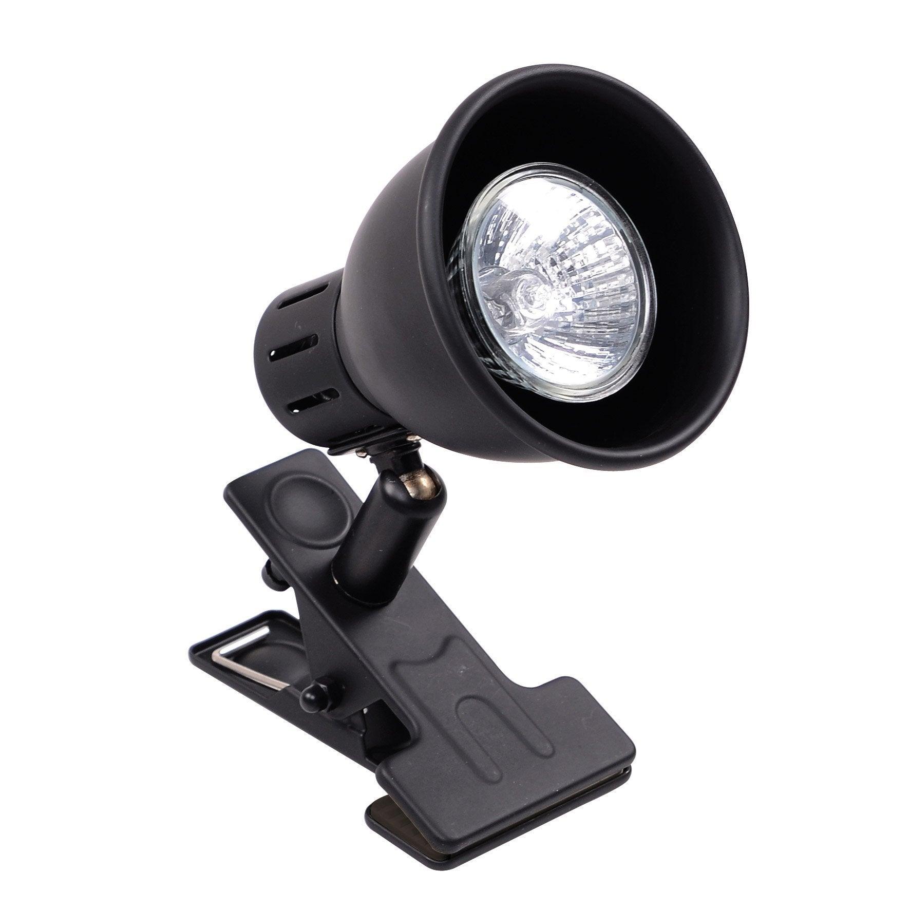 Lampe Métal Noir Seynave Spot Pince Nomade