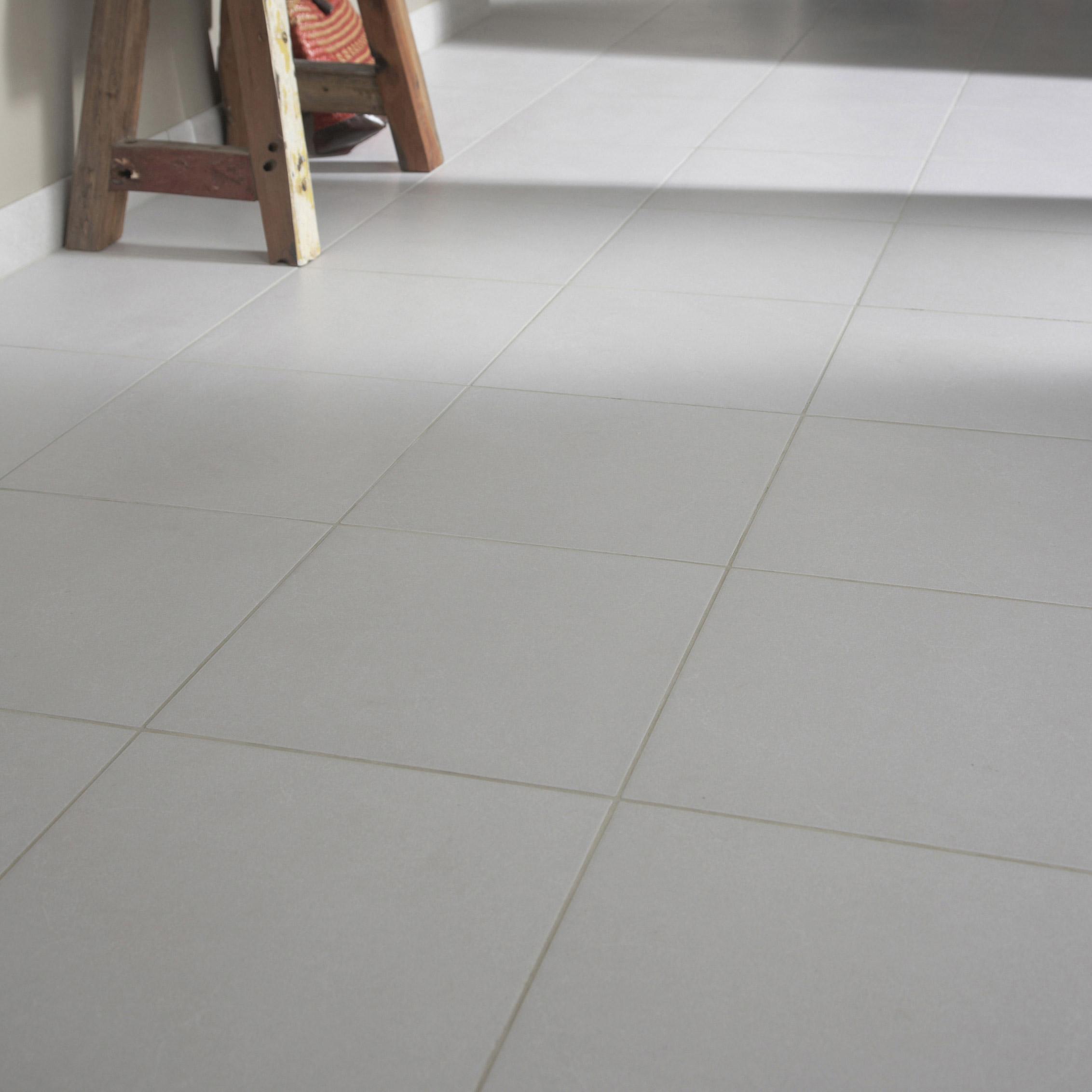 Carrelage sol et mur medio effet béton gris clair Shade l.45 x L.45 cm ARTENS