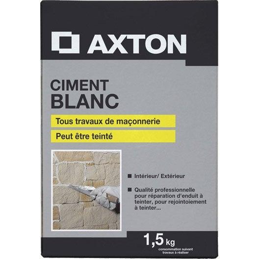 Ciment blanc axton leroy merlin - Enduit ciment blanc exterieur ...