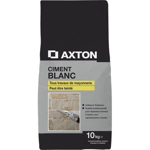 Ciment blanc ce axton 10 kg leroy merlin - Enduit ciment blanc exterieur ...