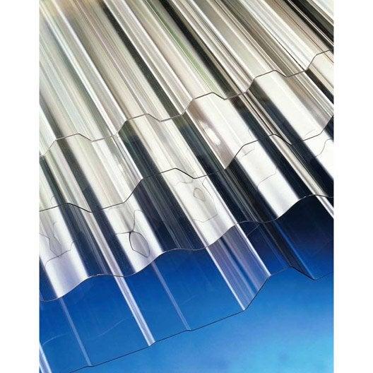 Plaque transparente pour toiture de maison