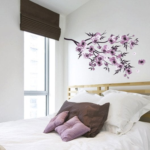 sticker fleurs aquarelle 50 x 70 cm leroy merlin. Black Bedroom Furniture Sets. Home Design Ideas