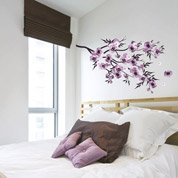 Sticker Fleurs aquarelle 50 cm x 70 cm