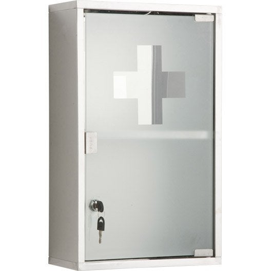 armoire pharmacie imitation m tal cm genoa