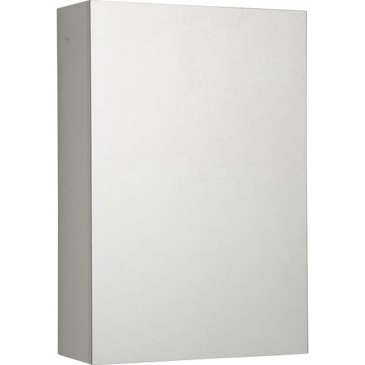 armoire de toilette cm blanc porte miroir modulo leroy merlin. Black Bedroom Furniture Sets. Home Design Ideas