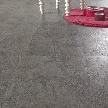 Dalle vinyle adhésive Stone ARTENS, gris foncé, 30.48 x 60.96 cm