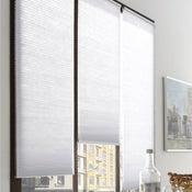Store plissé polyester, blanc, l.60 x H.180 cm