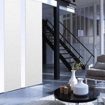 Panneau japonais Straight, blanc, 250 x 50 cm