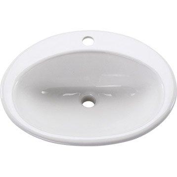Vasque à encastrer céramique l.54 x P.44 cm blanc Nerea