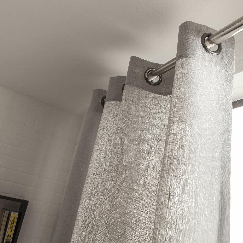 Amazing Rideau Lin Taupe Galerie - Idées décoration intérieure ...