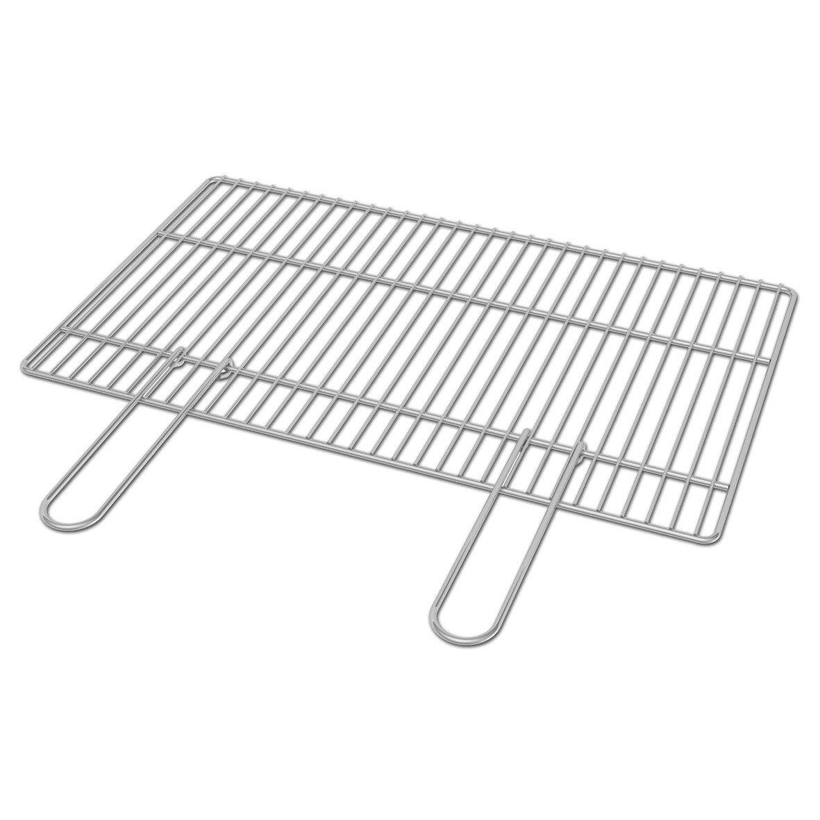 Grille ginevra luxor enna kos acier leroy merlin - Grille pour barbecue sur mesure en acier inox ...