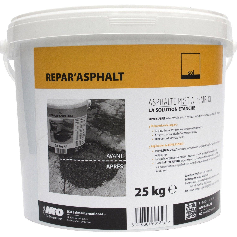r paration de bitume iko repar 39 asphalt 25 kg noir leroy merlin. Black Bedroom Furniture Sets. Home Design Ideas