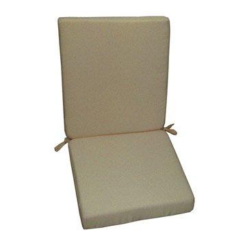 Coussin d'assise de chaise ou de fauteuil gris doré Lola NATERIAL