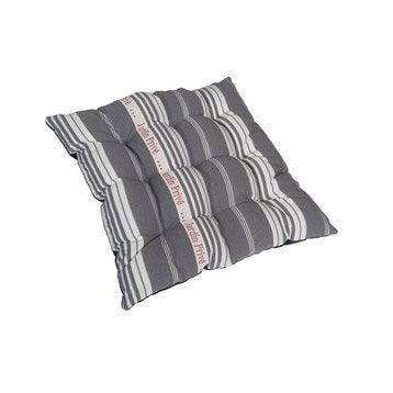 Coussin d'assise de chaise ou de fauteuil gris Coutil