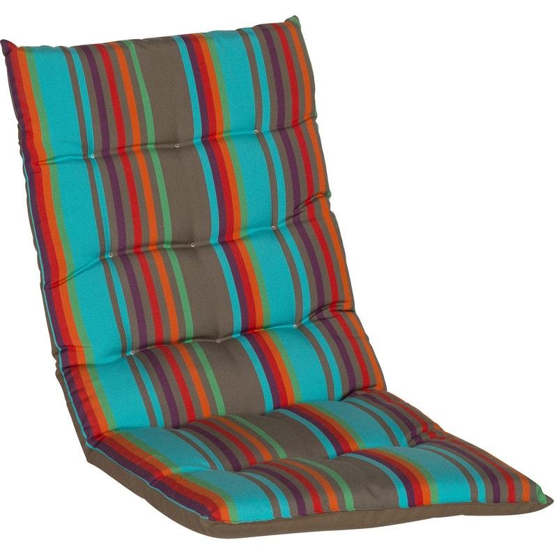 coussin d 39 assise de chaise ou de fauteuil multicolore samba 85 x 42 cm leroy merlin. Black Bedroom Furniture Sets. Home Design Ideas