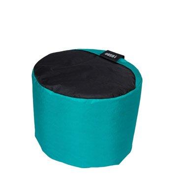 Pouf de sol bleu Mini-curl JARDIN PRIVE