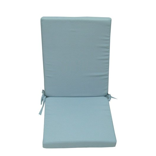 coussin d 39 assise de chaise ou de fauteuil bleu lola leroy merlin. Black Bedroom Furniture Sets. Home Design Ideas