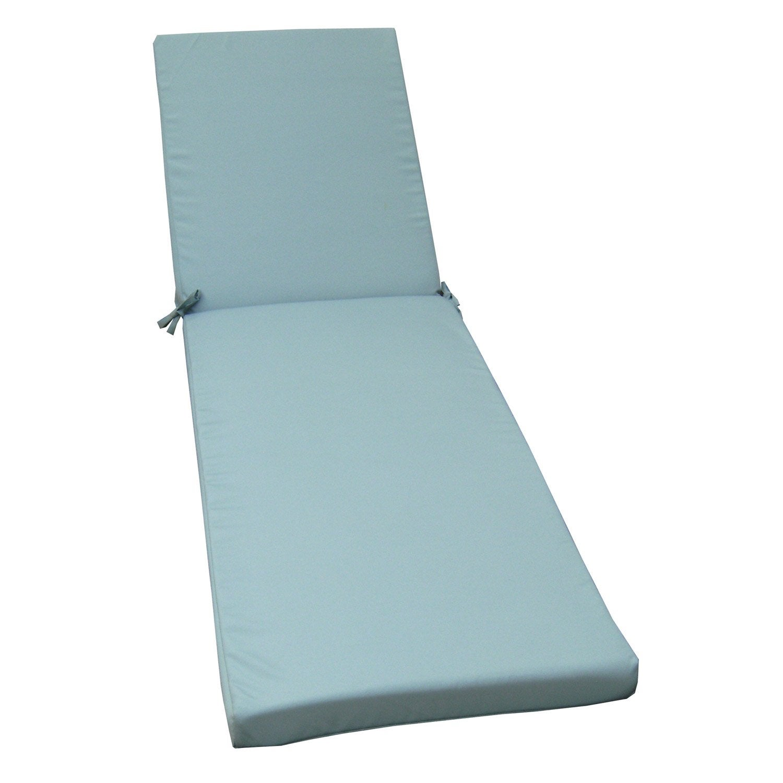 coussin de bain de soleil bleu lola 1860 x 56 leroy merlin. Black Bedroom Furniture Sets. Home Design Ideas