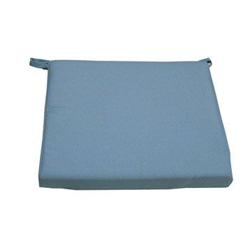 Coussin d'assise de chaise ou de fauteuil bleu Lola NATERIAL