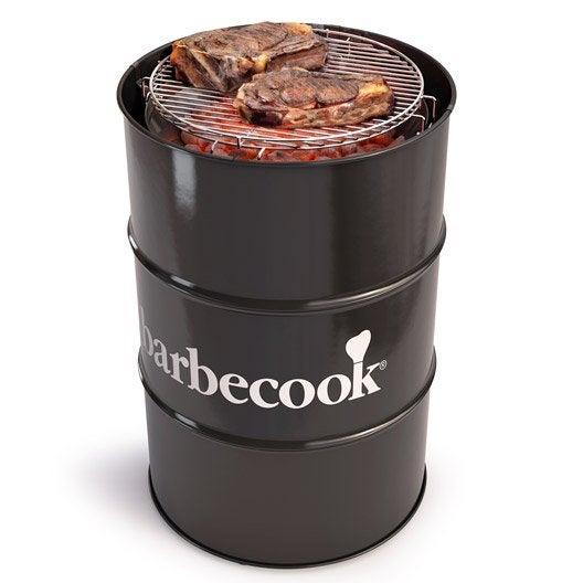 barbecue au charbon de bois barbecook edson noir leroy merlin. Black Bedroom Furniture Sets. Home Design Ideas