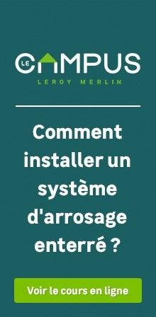 Comment installer un système d'arrosage ?
