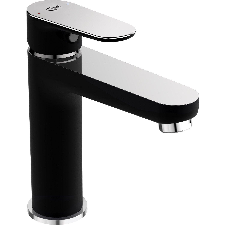 Mitigeur de lavabo noir, chrome brillant, IDEAL STANDARD Tyria