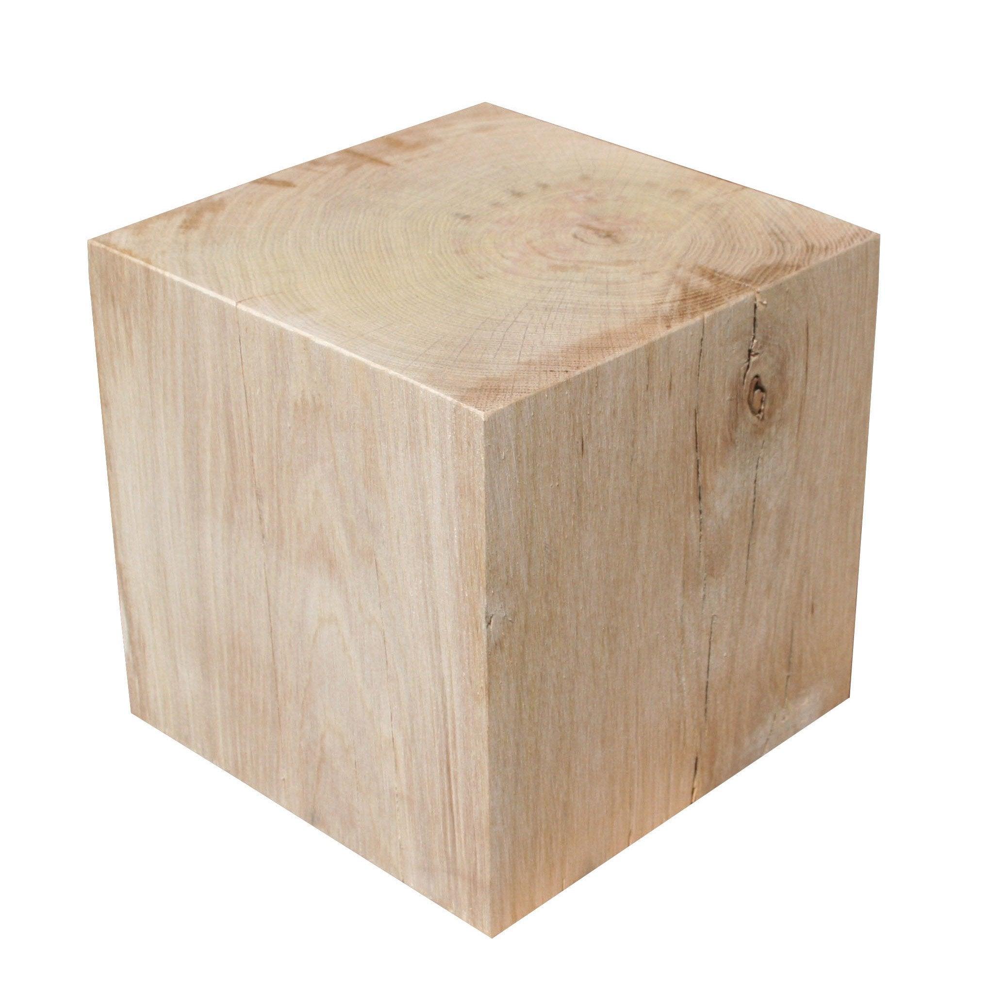 Cube chêne massif  L19 x l19 x H19cm