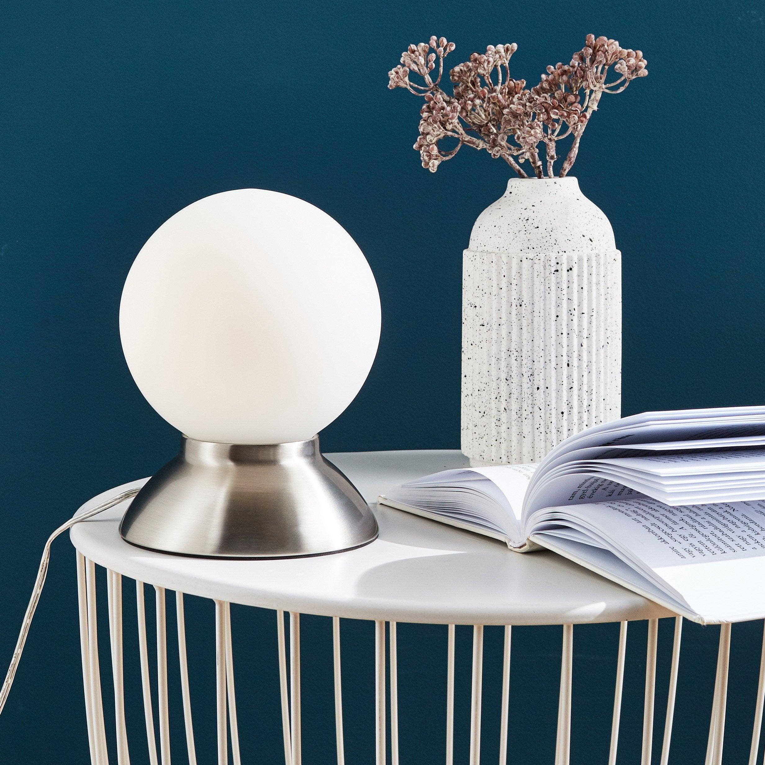 Lampe tactile, essentiel, métal nickel commande, INSPIRE Koze