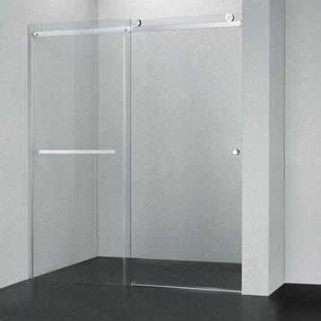 Porte de douche coulissante 117/120 cm profilé chromé, Fabrik