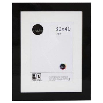 Cadre Laqué, 30 x 40 cm, noir-noir n°0