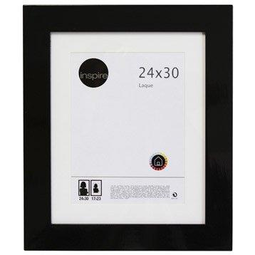 Cadre Laqué, 24 x 30 cm, noir-noir n°0