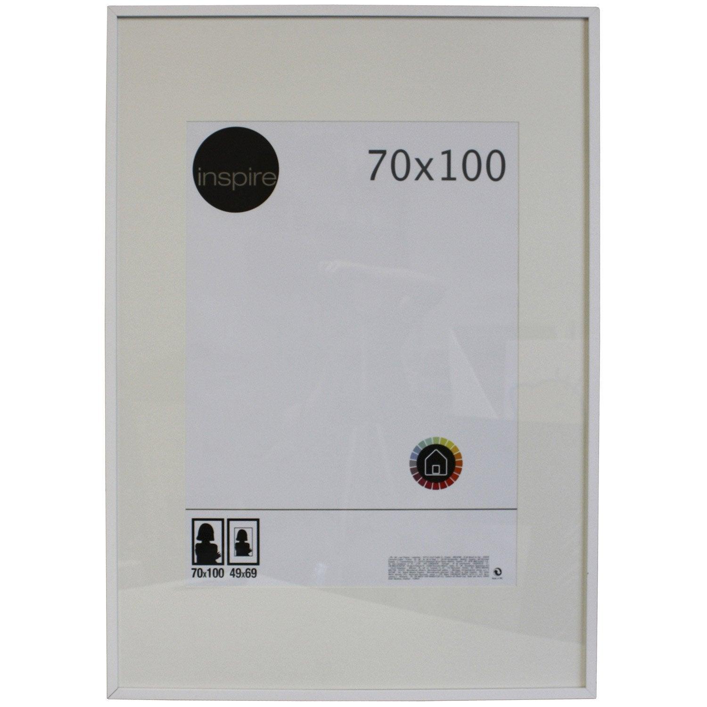 cadre lario 70 x 100 cm blanc blanc n 0 leroy merlin. Black Bedroom Furniture Sets. Home Design Ideas