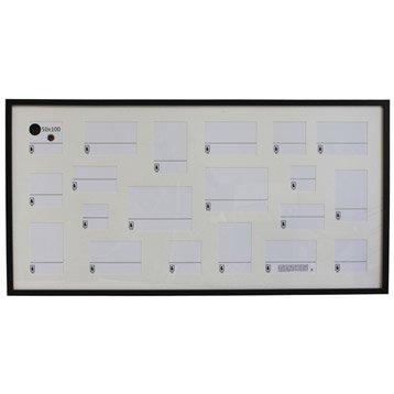 Cadre Lario, 50 x 100 cm, noir-noir n°0