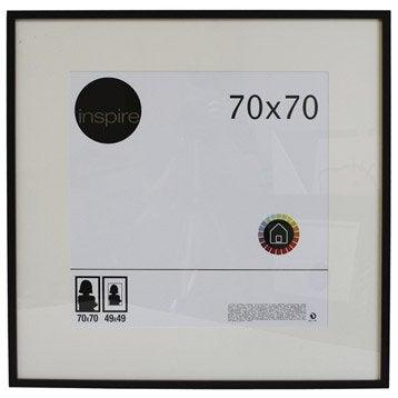 Cadre Lario, 70 x 70 cm, noir-noir n°0